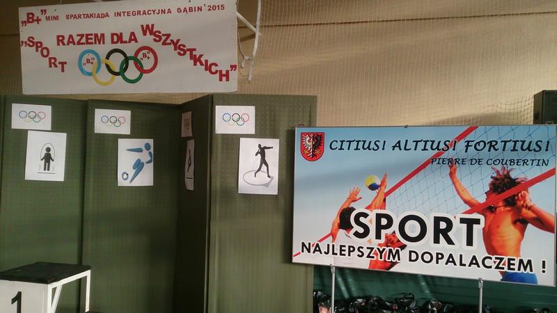 """Mini Spartakiada Integracyjna """"Sport Razem dla Wszystkich"""""""