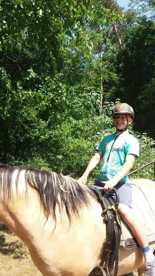 Zajęcia z psychopedagogicznej jazdy konnej-praca nad prawidłowym dosiadem
